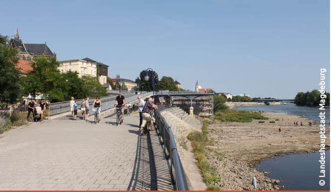 Elbuferpromenade Magdeburg