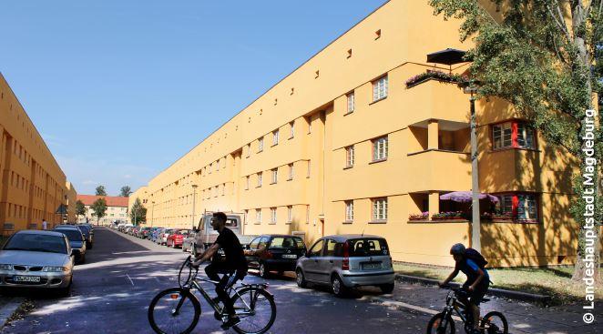 Die Flechtinger Straße in der Hermann-Beims-Siedlung